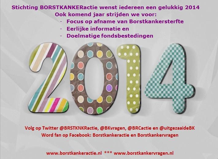 Happy New Year 2014 Borstkankeractie